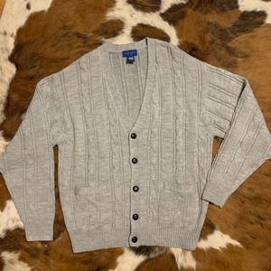 Towncraft Cable Knit Sweater Cardigan